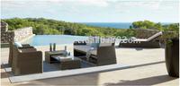 2014 Hot Sale Garden Luxury Brown Rattan Coffee Table Set