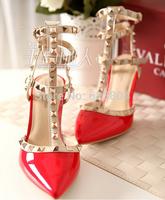 Tenis Women Pumps Shoes Woman Closed Toe Eva New 2014 Summer Pointed Toe Sandals Women High Top Spikes Heels Goblet Heel Pumps