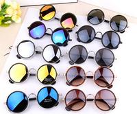 Fashion Vintage Round Sunglasses Women Brand designer sungasses  Oculos Love Retro Mirror Sun Glasses