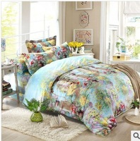 Free shipping home textile active 4 times Spring, summer, new cotton twill bedding four sets