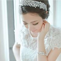 Free Shipping Retail Sparking Crystal Mesh Yarn Bridal Headband & Comfortable Stretch Hair Band For Women