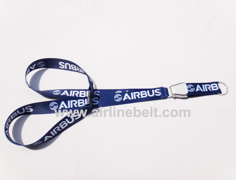 Shipping free Airbus keychain lanyard aircraft buckle keychain seat belt buckle lanyard airplane airline keychain lanyard(matt)(China (Mainland))