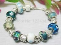 Free shipping jewelry ,chamilia beads bracelets.fashion Silver bracelet jewelry.wholesale price