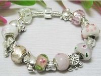 free shipping chamilia beads charm bracelets