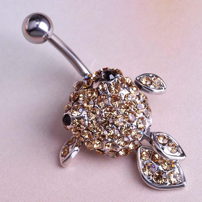 Gold Fish Piercing Navel Sex Rhinestone Lingerie Belly Button Ring Accessories Body Jewelery Percing Lot Bulk Pircing Bijou Sexy(China (Mainland))