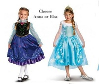 BB049 Free shipping 2014 Baby Girls Princess Dress  Elsa's And Anna's Kids Dresses Frozen Princess Girls Fashion Dress Retail