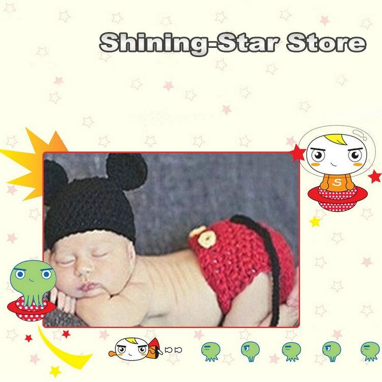 2014 minnie mouse crochet bebê toddle conjunto para 0-12 meses infantil crochet bebê roupa do bebê primeiro presente shining- estrela livre beber(China (Mainland))