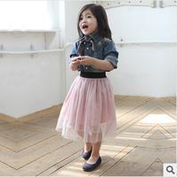 2014 spring and summer girls tutu age 3-8 tulle skirts children fluffy skirt, kids tutu skirt, black/white/blue/pink