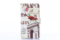 Retail NEW Paris Tower Flower bird Design Flip PU Leather Case Wallet Cover Protective Shell for  LG Optimus G3 D850