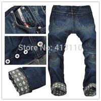 29-40#JY7598,New 2014 Italian Fashion Famous Brand Men's Jeans,Plus Size Designer Straight Denim Slim Fit True Ripped Jeans Men