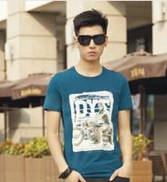 Mens T Shirts Fashion 2014 Summer Cotton T-Shirt Men M,L,XL,XXL T Shirt Men Free Shipping MR1-39
