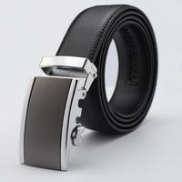 Men's Belts Genuine Leather Ratchet Belt Steel Buckle Belts Gift for Men Transport Belts Cintos Masculinos Strappk370-T0