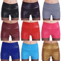 Hot Sale Faux Leather Women Shorts Sexy PU Short Pants Size S,M,L