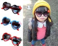 Wholesale Retail Fashion 2014 Children Cat Style Heart Shape Hello Kitty Sunglasses
