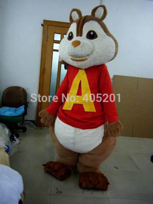 Alvin Chipmunks Costume Alvin Mascot Costume Chipmunks