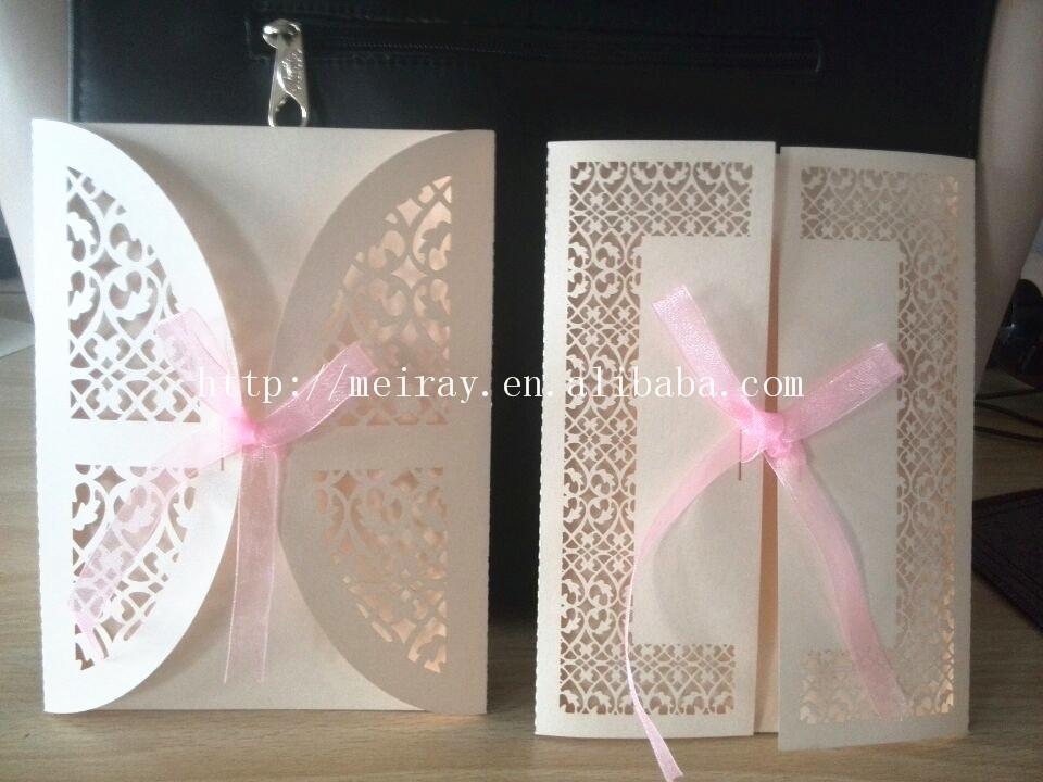 """2014 Novo Produto Presentes de casamento """" filigrana """" Convite de casamento de Mery Artesanato(China (Mainland))"""