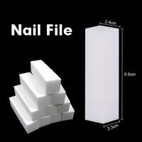 10pcs/lot Nail Care Tool White Buffer Block Acrylic Nail Tips Sanding Files