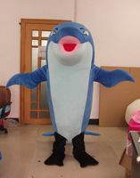 huge style dolphin mascot costumes blue fish costumes