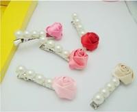 Wholesale - The flower children hair accessories / pearl hairpin side folder / duckbill clip