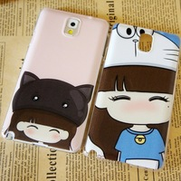 1piece Cute Girl Dora A Dream Hat design House Back Skin Cover case for Samsung Galaxy Note 3 i9300 Free Shipping