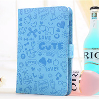 """100pcs Lovely Magic girl design Universal Case PU Leather With Stand for 9"""" Android Tablet PC MID wholesale"""