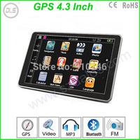 4.3 inch GPS navigation system 4GB + FM car GPS navigator Free map Drop shipping Free shipping by DHL/EMS