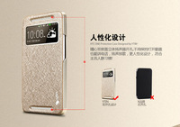 2014 hot New Arrival, Luxury Leather Wallet Flip Cover Case For HTC 802w/802t/802d,6 Colors For HTC One dual sim phone case