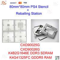 4pcs/set, 80mm * 80mm PS4 stencil CXD90025G, CXD90026G, K4G41325FC GDDR5 RAM, K4B2G1646E DDR3 SDRAM + HT-80 reballing station
