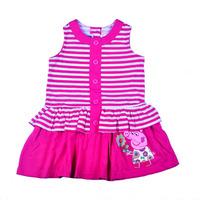 wholesale 2014 Hot sale Summer children/kids girl's Peppa Pig dark pink cotton dress, Girl's one-piece dress, 7pcs/lot-WYX-BB-10