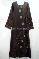 Free Shipping Ladies Womens Beautiful Elegant Islamic Big Wear Abaya Jilbab Hijab Muslim Dress,long sleeve