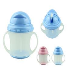 Essencial SkyBlue 180 ml 2014 novo drinkware bebê garrafa de água / formação de palha suave Kit criança(China (Mainland))