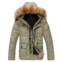 Men's winter clothing thermal down coat thickening fur collar short jacket male design casual outdoor clothing hot sale MC1350