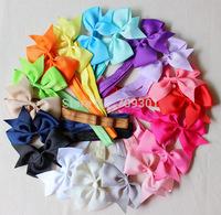 "4 "" cheaper grosgrain bow headband Baby girls hairbow headband 18 colors available 50pcs/lot"