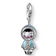 Горячие продаж мода серебро 925 эскимосы кукла шарма ( 1.7 x 0.9 см ) подходят браслет ...