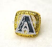 New arrival gold  plated replica 2001 the Arizona diamondbacks world champion ring--johnson