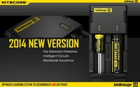 With Car Charger Nitecore i2 Universal Intelligent Li-ion/NiMH Battery Charger For 18650/26650/AA and AAA Battery