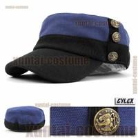Military hat army flat cap large 58cm repair color block decoration buckle hat