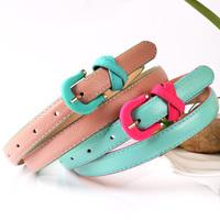 Women thin belt female fashion all-match women's color block decoration strap p1026