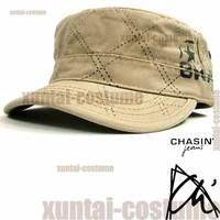 Ch sin distrressed retro finishing water wash cadet military cap hat secret pocket black ash khaki bcb
