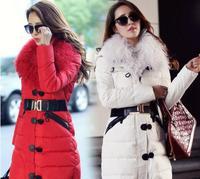 Winter slim turn-down collar oversized wool quality down coat female luxury large fur designer outerwear women jacket WC1649