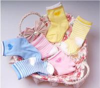 (6pairs/lot) stripeslove newborn baby socks non-slip socks relent newborn  0-1 years old children's socks cotton baby socks