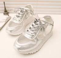 2014 Hot Sale New Arrival Women Sneakers Floral Lace Style Fashion Women Shoes 2 colors  Women Sport Sneaker Brand 35-39