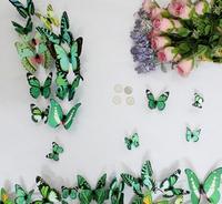 Home Decor 12 pcs /set Curtains frige Decoration Butterfly Wedding Decor Luminous Mirror DIY for Kid's Wall Sticker Chris Decals
