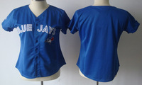 Free shipping Women Toronto Blue Jays Jerseys Blank Blue Baseball Authentic Stitched Jerseys Cheap New arrival Top Quality