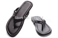 2014 New Fashion Men's Sandal Brand Designer Summer Causal Shoes Genuine Flip Flops Plus Size EU40-47 us7-13 Free Shipping