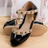 2014new style children's sandals sandals for girls Kids sandals with Famous brand dsign Genuine Leather shoes 3 color B1