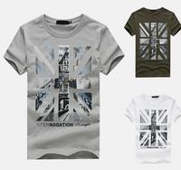 New Summer 2014 fashion casual man t -shirts, men's uk flag t shirt men fitness short-sleeved men's clothing