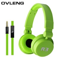 High Quanlity Stereo Wired Headset OVLENG A3 Wired Stereo Headset with microphone for Mobile Phone mp3 mp4 computer