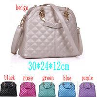 Brand New New 2014 Women Leather Handbags For Woman Fashion Designer Black Bucket Vintage Shoulder Bags Women Messenger Bag