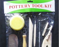 Free shipping Pottery tool kits with 8 different  tool per set ,  1set /lot  .Art tools ,crafting accessories